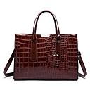 cheap Totes-Women's Bags PU(Polyurethane) Tote Zipper Crocodile Black / Red / Wine