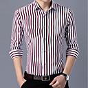 baratos Camisas-camisa plus size masculina - gola clássica listrada