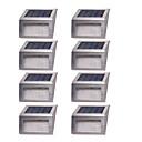 זול אורות נתיב-8pcs 1 W אורות דשא / אור רחוב / השמש אור השמש עמיד במים / סולרי / דקורטיבי לבן חם / לבן 1.2 V תאורת חוץ / חָצֵר / גן 2 LED חרוזים