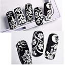 cheap Nail Dryer & Lamp-1 pcs Decals 3D Interface White Series nail art Manicure Pedicure Daily / Festival Stylish / French