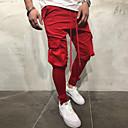 abordables Billares-Hombre Básico Algodón Chinos Pantalones - Un Color Rojo / Primavera / Otoño