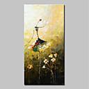 levne Abstraktní malby-Hang-malované olejomalba Ručně malované - Abstraktní Lidé Moderní Obsahovat vnitřní rám / Reprodukce plátna