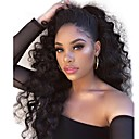 cheap Human Hair Wigs-Remy Human Hair Full Lace Lace Front Wig Brazilian Hair Body Wave Loose Wave Black Wig Asymmetrical 150% Density with Baby Hair Soft Women Easy dressing Best Quality Natural Black Women's Long Human