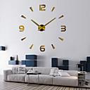 baratos Bricolage Relógios de Parede-Contemporâneo Moderno / Bricolage Aço Inoxidável Redonda Interior,Baterias AA alimentadas