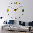 cheap DIY Wall Clocks-Modern Contemporary / DIY Stainless steel Round Indoor,AA Batteries Powered Wall Clock