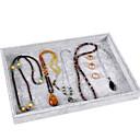 levne Ukládání šperků-Úložný prostor Organizace Sbírka šperků Česaná bavlna Čtvercový Zábavné