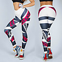 cheap Fitness, Running & Yoga Clothing-Women's Jacquard Yoga Pants White Black Sports Print Elastane Tights Leggings Zumba Running Fitness Activewear Breathable Moisture Wicking Quick Dry Stretchy Skinny / Winter