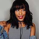 hesapli Gerçek Saç Örme Peruklar-Kökten Saç 360 Ön Peruk Bob Saç Kesimi stil Düz Brezilya Saçı Doğal Dalgalar Peruk % 130 Saç yoğunluğu Kadın Doğal Rahat 100% bakire Doğal Kadın's Şort Gerçek Saç Örme Peruklar Luckysnow