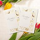 זול הזמנות לחתונה-מקפלי צד הזמנות לחתונה 5 חלקים - כרטיסי הזמנה נייר טהור דוגמא \ הדפס