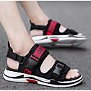 זול סנדלים לגברים-בגדי ריקוד גברים נעלי נוחות ג'ינס קיץ סנדלים שחור / שחור אדום / שחור וצהוב