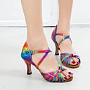 זול נעליים לטיניות-בגדי ריקוד נשים נעלי ריקוד PU נעליים לטיניות אבזם סנדלים / נעלי ספורט סלים גבוהה עקב מותאם אישית קשת / הצגה / עור