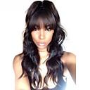 voordelige Kanten pruiken van echt haar-Mensen Remy Haar 360 Frontale Pruik Met pony Kardashian stijl Braziliaans haar Body Golf Pruik 150% 180% Haardichtheid 10-22 inch(es) Natuurlijke haarlijn Afro-Amerikaanse pruik Voor donkere
