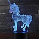 preiswerte Wii U Zubehör-Schönes einhorn romantische geschenk 3d led tischlampe 7 farbwechsel nachtlicht raumdekor glanz urlaub freundin kinder spielzeug