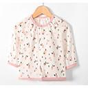 preiswerte Tops für Babys-Baby Mädchen Aktiv Alltag Solide / Geometrisch Langarm Standard Polyester Bluse Hellgrün