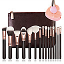 voordelige Make-up kwastensets-15pcs Make-up kwasten professioneel Make-up kwast Beugel Houten / bamboe