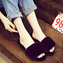 cheap Slippers-Women's Slippers House Slippers Solid Velvet solid color Shoes