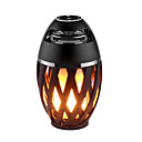 cheap Table Lamps-1pc LED Flame Lamp Bluetooth Speaker Touch Soft Light For iPhone Android Christmas Gift MP3 Player Speakers Super Bass Waterproof Loudspeaker