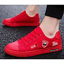 رخيصةأون أحذية سليب أون وأحذية مفتوحة للرجال-رجالي أحذية الراحة كانفا ربيع & الصيف أحذية رياضية أبيض / أسود / أحمر
