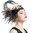 ieftine Coliere-Marele Gatsby Vintage 1920 Gatsby Roaring 20s Costume Pentru femei Accesoriu de Păr Bandană Adolescentă Veșminte de cap Verde Vintage Cosplay Petrecere Bal / Franjuri