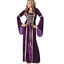 cheap Historical & Vintage Costumes-Belle Retro / Vintage Medieval Renaissance Wasp-Waisted Costume Women's Dress Purple Vintage Cosplay Birthday Masquerade Festival Long Sleeve Flare Sleeve Square Neck Long Length