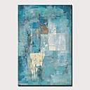 abordables Peintures Abstraites-Peinture à l'huile Hang-peint Peint à la main - Abstrait A fleurs / Botanique Moderne Sans cadre intérieur / Toile roulée