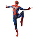cheap Movie & TV Theme Costumes-Zentai Suits Skin Suit Full Body Suit Super Heroes Kid's Adults' Cosplay Costumes Sex Red Print Lycra Men and Women Christmas Halloween New Year