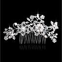 povoljno Nakit za kosu-Žene Moda Imitacija bisera Umjetno drago kamenje Legura Šeširi Vjenčanje Dnevno - Cvjetni print / Leaf Shape