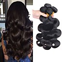 cheap Human Hair Capless Wigs-4 Bundles Peruvian Hair Body Wave Human Hair Natural Color Hair Weaves / Hair Bulk Hair Care Extension 8-28 inch Natural Color Human Hair Weaves Soft Silky Natural Human Hair Extensions Women's