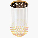 cheap Wall Sconces-10-Light Crystal Pendant Light Downlight Electroplated Metal Crystal, LED 110-120V / 220-240V Warm White Bulb Included / GU10