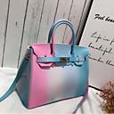 halpa Tote-laukut-Naisten Kuviointi / printti PVC Kahvalaukku Color Block Fuksia / Vaalean harmaa / Taivaan sininen