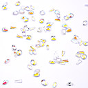 cheap Rhinestone & Decorations-3D Nail Stickers Nail Jewelry Rhinestones Crystal / 3D Interface / Transparent Jewelry Series Romantic Series Message Series nail art Manicure Pedicure Synthetic Gemstones / Acrylic / Resin Geometric