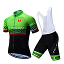 cheap Cycling Jersey & Shorts / Pants Sets-TELEYI Men's Short Sleeve Cycling Jersey with Bib Shorts - White Black Stripes Bike Clothing Suit Breathable Quick Dry Sports Polyester Stripes Mountain Bike MTB Road Bike Cycling Clothing Apparel