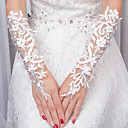 cheap Party Gloves-Net Elbow Length Glove Gloves With Appliques