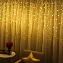 ieftine Fâșie Becuri LED-Crăciun lumini decorație în aer liber 3m droop 120de cortina icicle șir luminile grădină Crăciun partid lumini decorative nunta petrecere festival vacanță