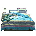 cheap LED String Lights-Duvet Cover Sets Stripes / Ripples 100% Cotton Printed 4 PieceBedding Sets