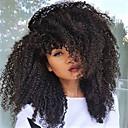 abordables Pelucas Sintéticas de Malla-Peluca Lace Front Sintéticas Rizado / Kinky Curly Estilo Corte a capas Encaje Frontal Peluca Negro Negro Natural Marrón Oscuro Pelo sintético 18 pulgada Mujer Resistente al Calor / Entradas Naturales