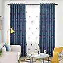preiswerte Verdunkelungsvorhänge-Verdunklungsvorhänge Vorhänge Schlafzimmer Cartoon Design Leinen-Polyestergewebe Stickerei