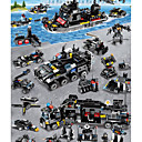 povoljno Building Blocks-Kocke za slaganje Građevinski set igračke Poučna igračka 400-800 pcs Vozila Vojni Letjelica kompatibilan Legoing simuliranje Vojno vozilo Policijski auto Helikopter Sve Dječaci Djevojčice Igračke za
