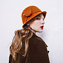 halpa Vanhan maailman asut-Elizabeth Ihmeellinen rouva Maisel Naisten Aikuisten naiset Retro / Vintage Huopahatut Hat Pinkki Punainen Ruskea Yhtenäinen Vintage Villa Headwear Lolita Tarvikkeet