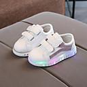 billige Sneakers til børn-Pige PU Sneakers Toddler (9m-4ys) / Små børn (4-7 år) Komfort / Lysende Sko Magisk tape Sølv / Regnbue / Lys pink Efterår vinter / Gummi