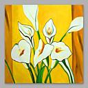 preiswerte Florale/Botansiche Gemälde-Hang-Ölgemälde Handgemalte - Blumenmuster / Botanisch Modern Fügen Innenrahmen