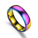 baratos Anéis-Casal Retro Anel de banda Aço Titânio Arco-Íris senhoras Simples Romântico Colorido Anéis Jóias Arco-íris Para Presente Diário Encontro 6 / 7 / 8 / 9 / 10