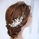 levne Ozdoby do vlasů na večírek-Slitina Vlasy Hřebeny s Květiny 1 ks Svatební Přílba