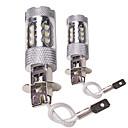ราคาถูก ไฟตัดหมอก-OTOLAMPARA 2pcs H7 / H4 / H3 รถยนต์ Light Bulbs 80 W LED แรงสูง 2200 lm 16 LED ไฟตัดหมอก สำหรับ Volvo / Volkswagen S40 / C30 / Jetta ทุกปี