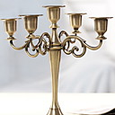 זול כיסויי שולחן-מודרני עכשווי בַּרזֶל פמוטים 1pc, מחזיק נר / נרות