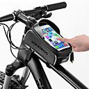 זול כיסוי לאופניים-ROCKBROS טלפון נייד תיק תיקים למסגרת האופניים 6 אִינְטשׁ מסך מגע מחזיר אור עמיד למים רכיבת אופניים ל טלפון סלולרי כל iPhone X iPhone XR שחור אופני כביש אופני הרים / iPhone XS / iPhone XS Max