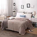 رخيصةأون بطانيات و حرامات-بطانيات السرير, مخطط بوليستر / بولي أميد غلظ بطانيات