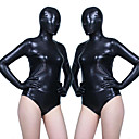 cheap Zentai Suits-Zentai Suits Skin Suit Full Body Suit Ninja Adults' Cosplay Costumes Leotards Black Solid Colored Patent Leather Elastane Women's Halloween Carnival Masquerade