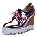 hesapli Kadın Topukluları-Kadın's Ayakkabı Patentli Deri / Mikrofiber Bahar Topuklular Dolgu Topuk Sivri Uçlu Günlük için Gümüş / Mavi / Pembe