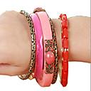 voordelige Other Behuizing Organisatie-5 stuks Dames Roze Hars Zin in hebben Bangles Uniek ontwerp Vintage Chinoiserie Armbanden Sieraden Roze Voor Dagelijks Formeel
